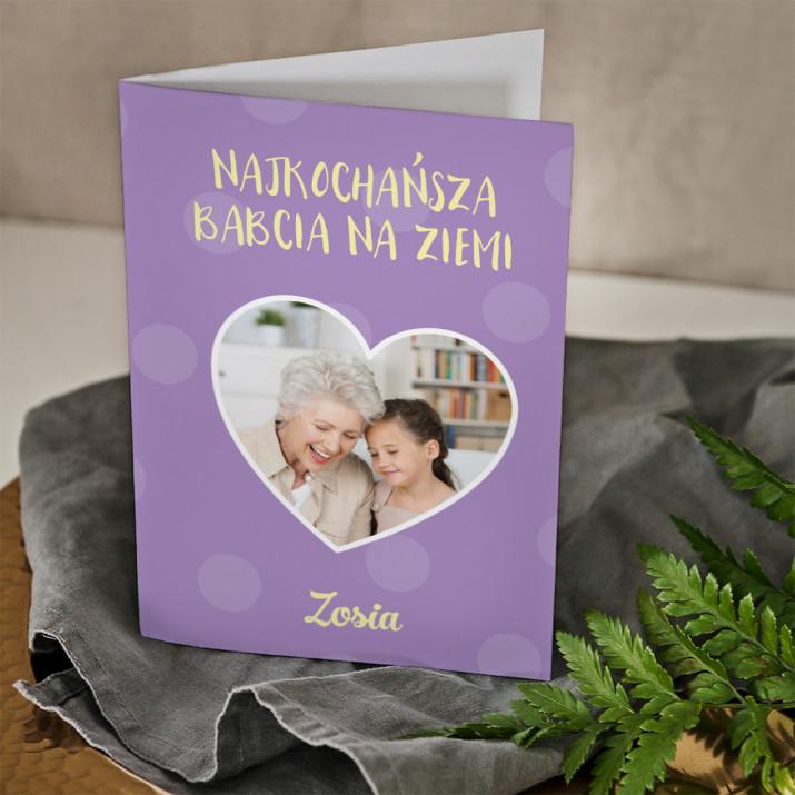 Najukochańsza babcia - kartka z życzeniami