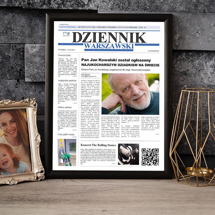 Najukochańszy Dziadek na Świecie - Okładka Gazety