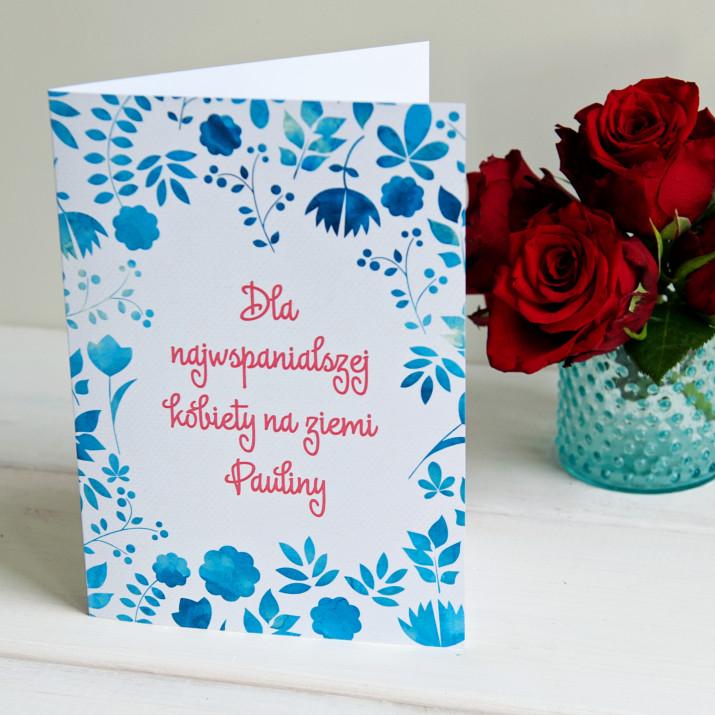Najwspanialsza Kobieta - kartka z życzeniami