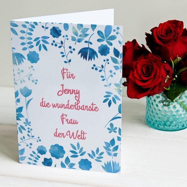 Wunderbarste Frau - Glückwunschkarte