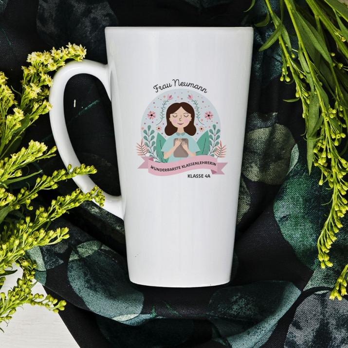 Wunderbarste Klassenlehrerin - personalisierte Tasse