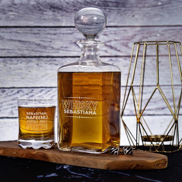 Napełnij - Zestaw Grawerowana Karafka I Szklanki Do Whisky