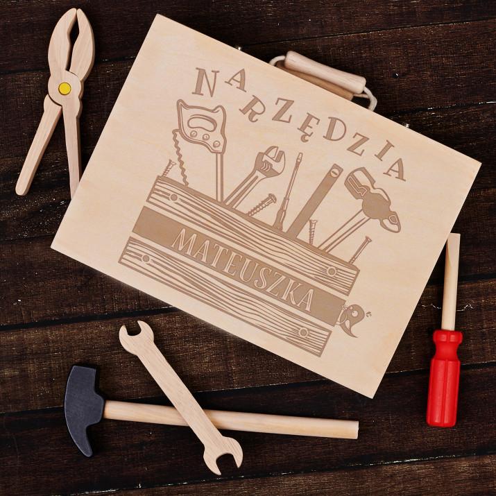 Narzędzia - Drewniany zestaw narzędzi dla dziecka
