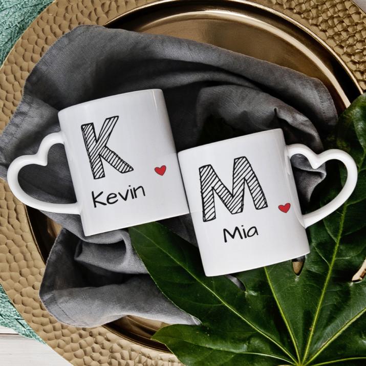 Unsere Namen - Tassen für Paare