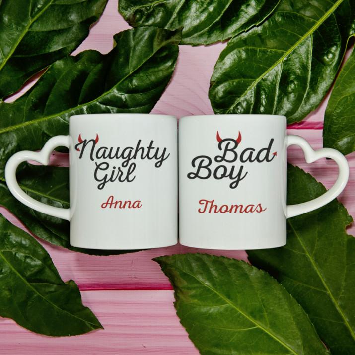 Naughty Girl & Bad Boy - Tassen für Paare