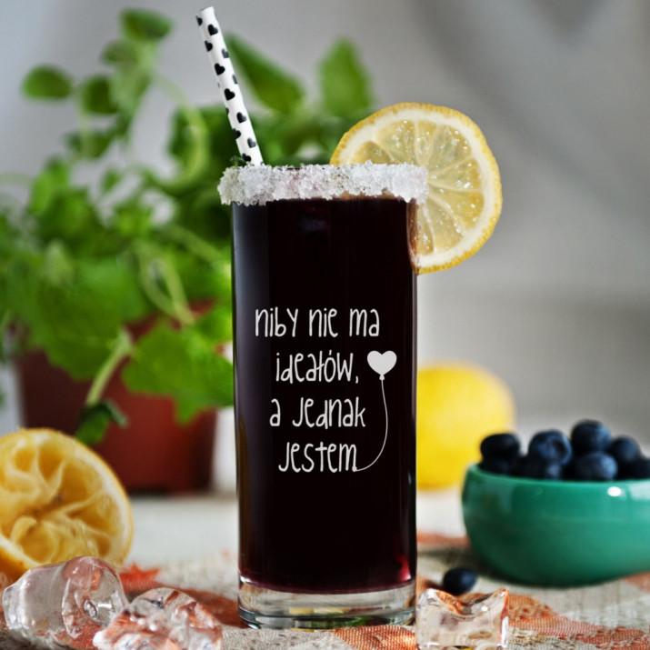 Nie ma ideałów - Grawerowana Szklanka do drinków