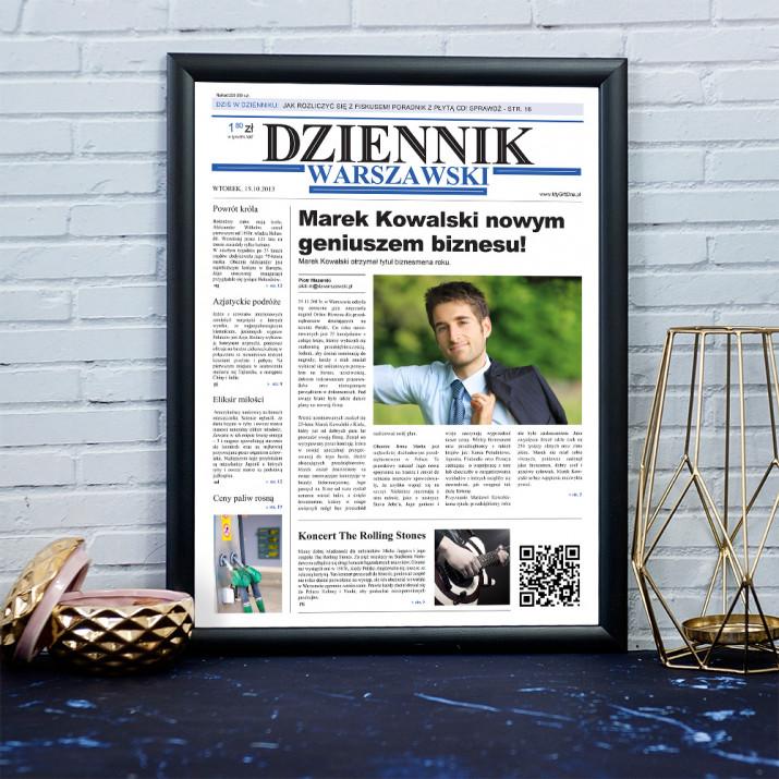Nowy Geniusz Biznesu - Okładka Gazety