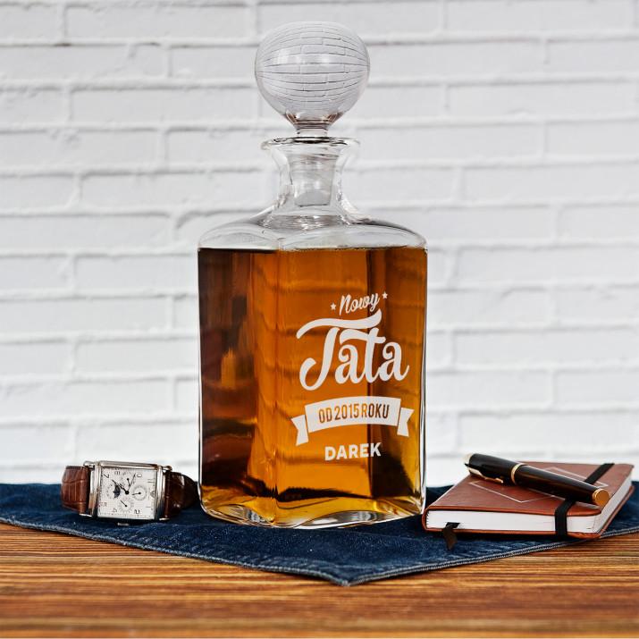 Nowy tata - grawerowana karafka do whisky