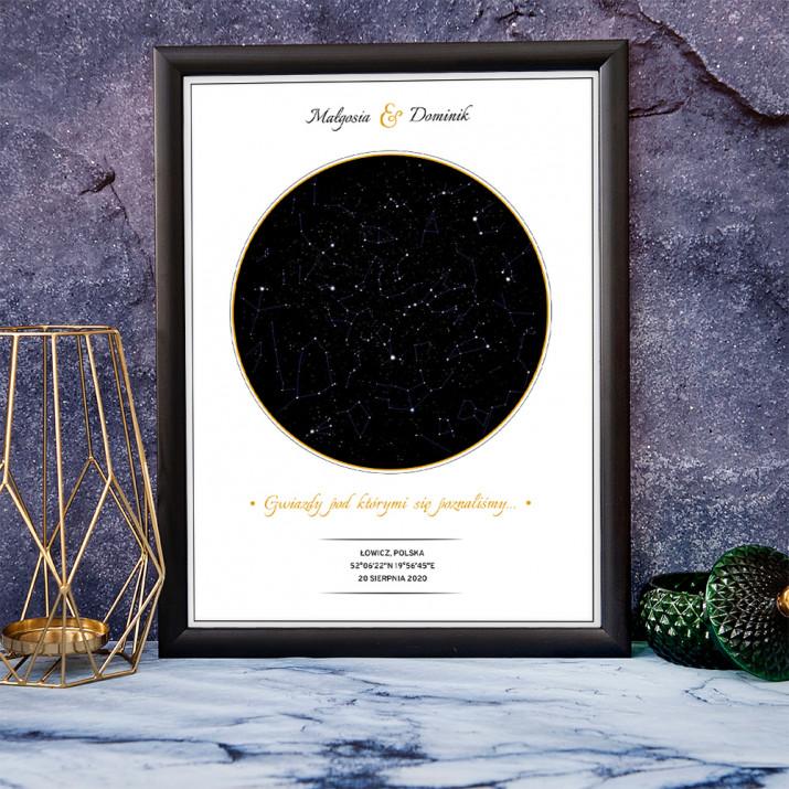 Okrąg - Mapa gwiazd