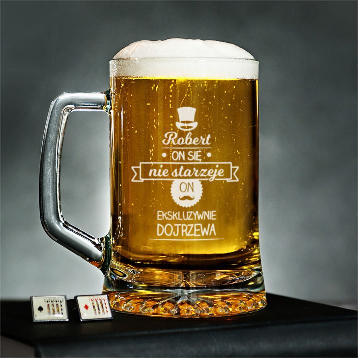 On się nie starzeje - Kufel na piwo