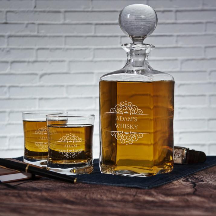 Ornaments - Zestaw Grawerowana Karafka I Szklanki Do Whisky