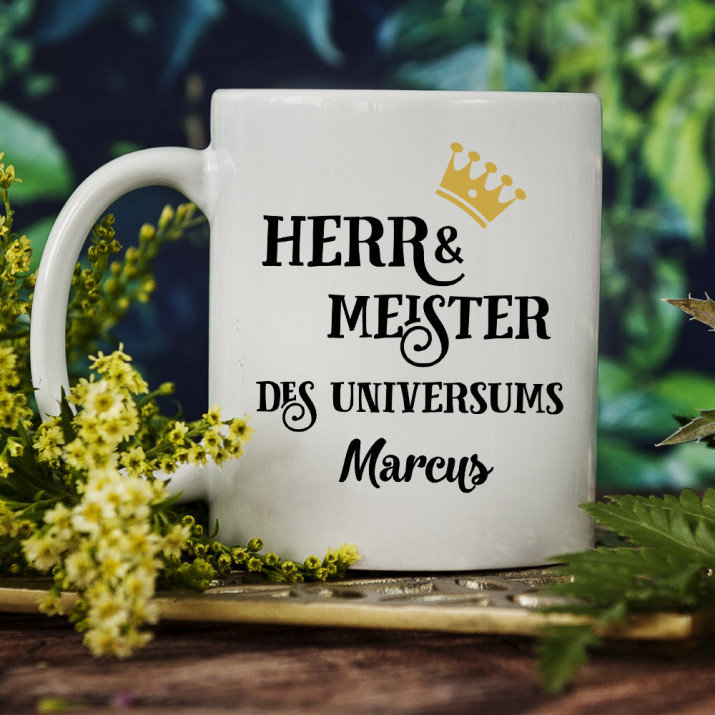 Herr & Meister - Personalisierte Tasse