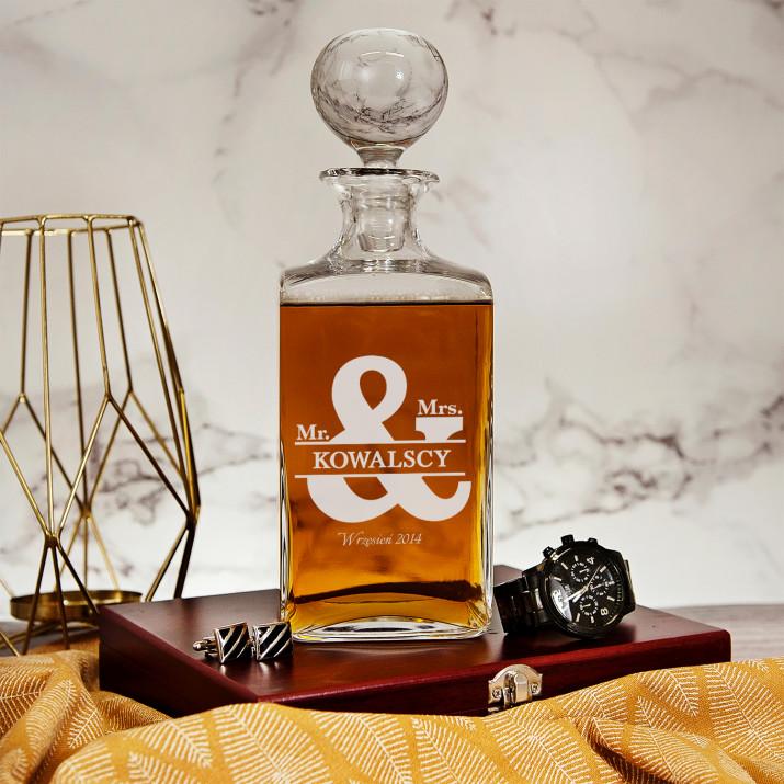 Pan Pani Kowalscy - grawerowana karafka do whisky