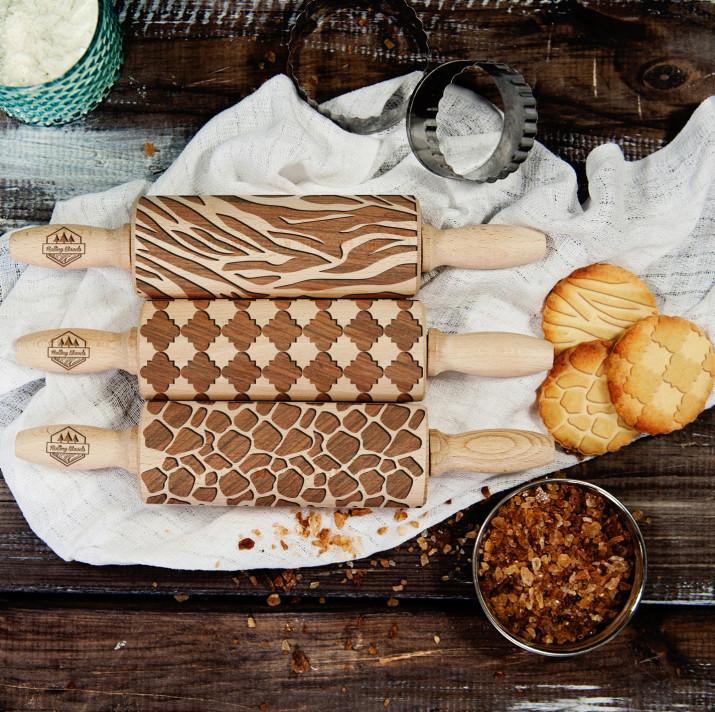 Pattern - Zestaw 3 MINI Wałki do ciasta