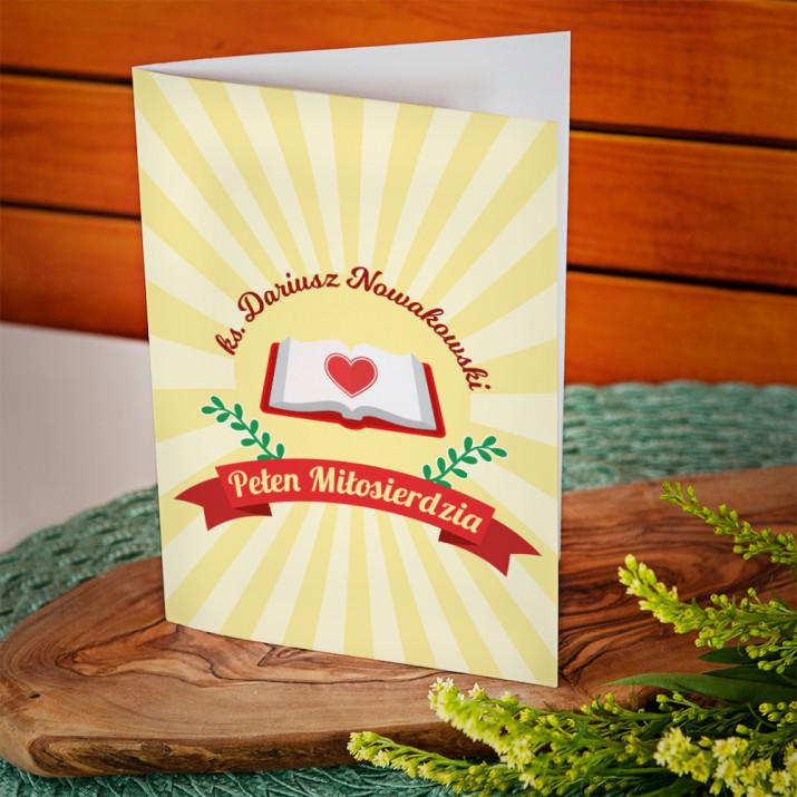 Pełen miłosierdzia - kartka z życzeniami
