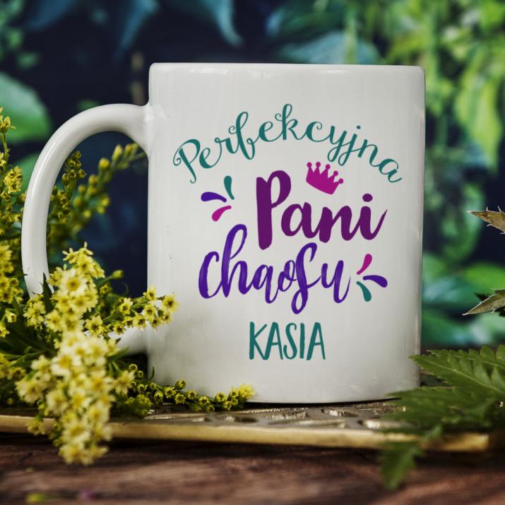 Perfekcyjna Pani chaosu - Personalizowany Kubek