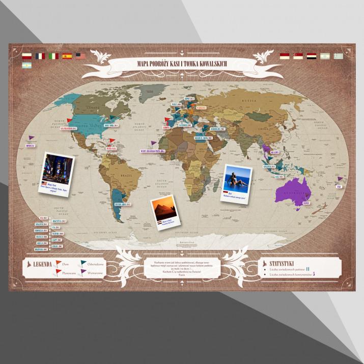 Personalizowana Cyfrowa Mapa Podróży: Świat