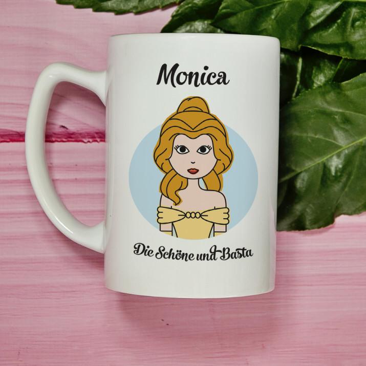 Die Schöne und Basta - personalisierte Tasse
