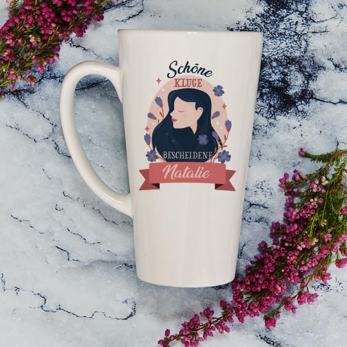 Schöne kluge bescheidene - personalisierte Tasse