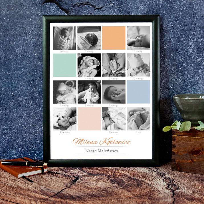 Pierwszy Rok Dziecka - Wydruk Obramowany