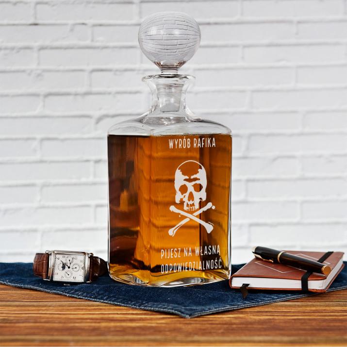 Pijesz na własną odpowiedzialność - grawerowana karafka do whisky