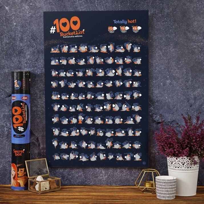 PLAKAT ZDRAPKA #100 BUCKETLIST Kamasutra Edition