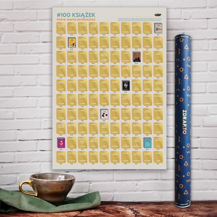 PLAKAT ZDRAPKA #100 książek do przeczytania przed śmiercią
