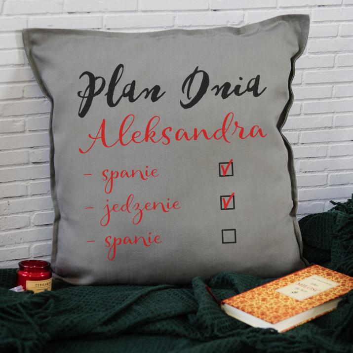 Plan dnia - Poduszka dekoracyjna