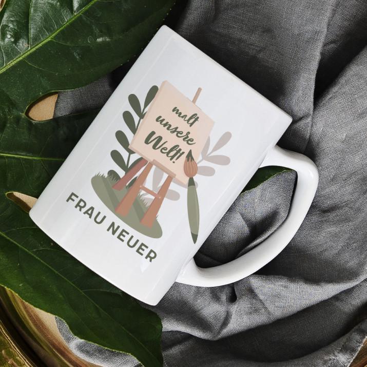 Malt unsere Welt - personalisierte Tasse