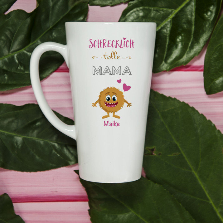 Schrecklich tolle Mama - Personalisierte Tasse