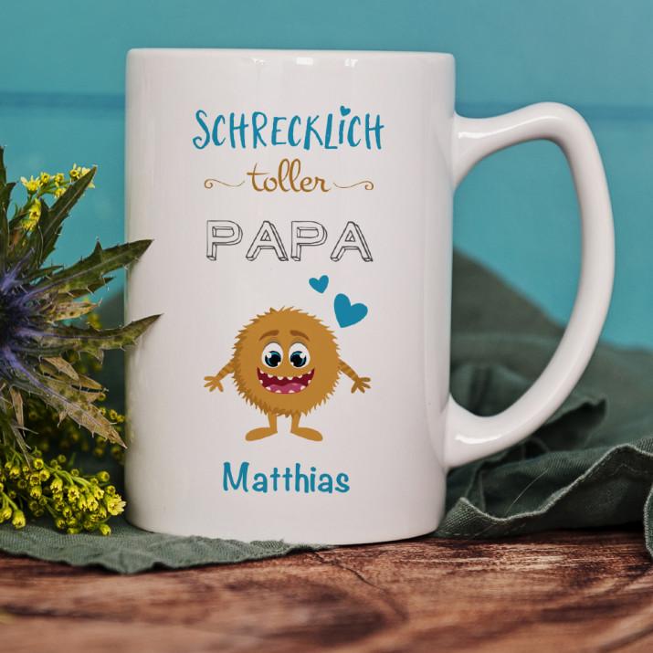 Schrecklich toller Papa - Personalisierte Tasse