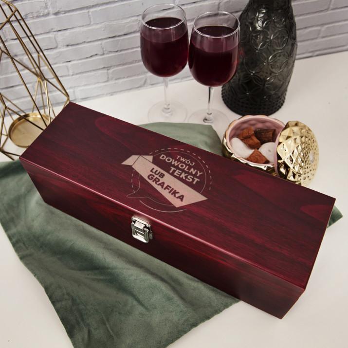 Projekt własny - Skrzynka na wino z akcesoriami