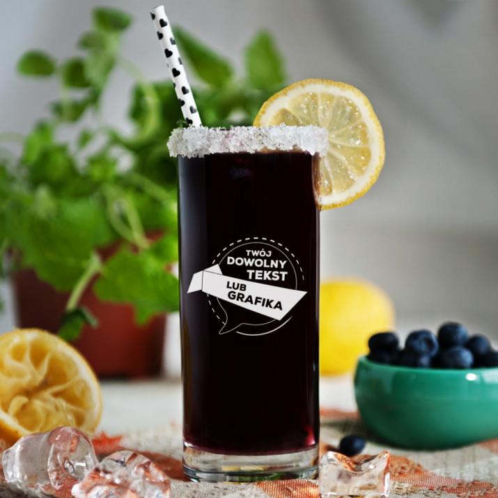 Projekt własny - Grawerowana szklanka do drinków
