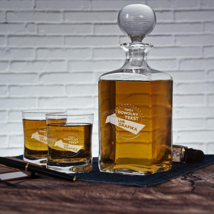 Projekt własny - Zestaw Grawerowana Karafka I Szklanki Do Whisky