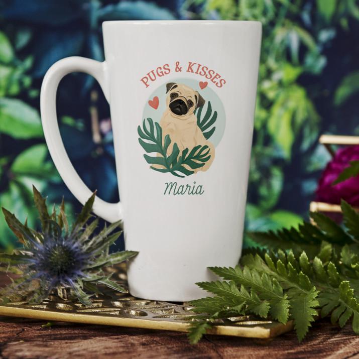 Pugs & Kisses - personalisierte Tasse