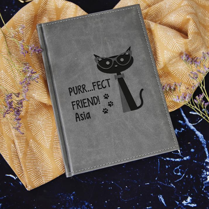 Purr...fect friend - notatnik grawerowany A5