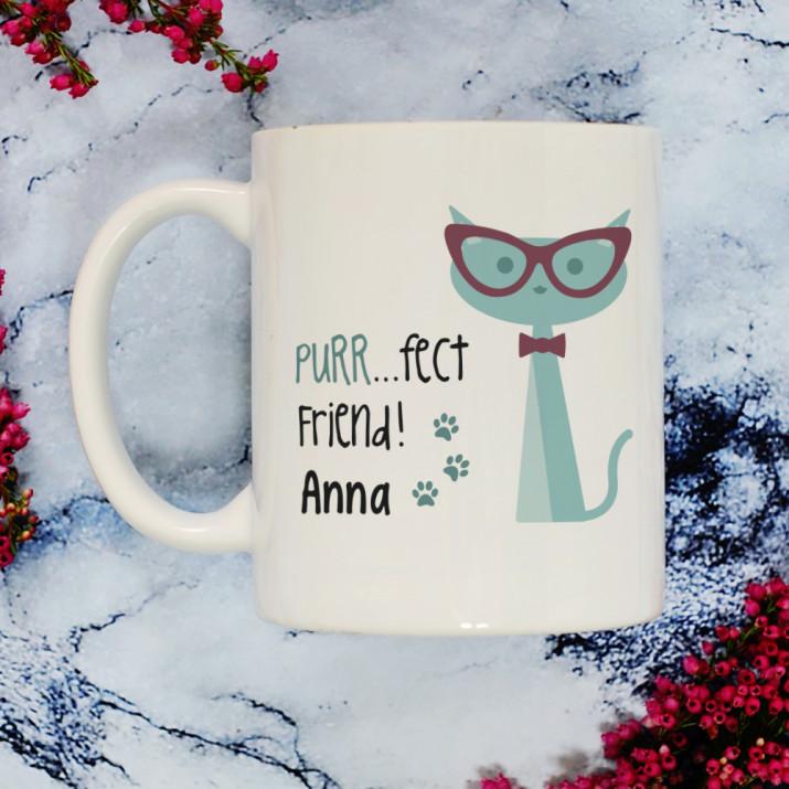 Purr...fect friend - Personalisierte Tasse