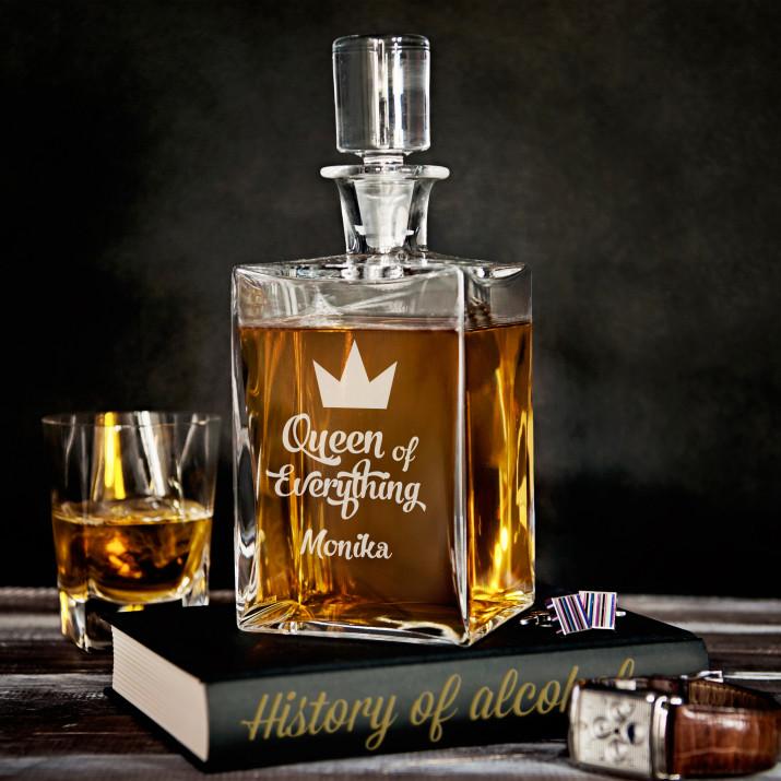 Queen of everything - grawerowana karafka do whisky