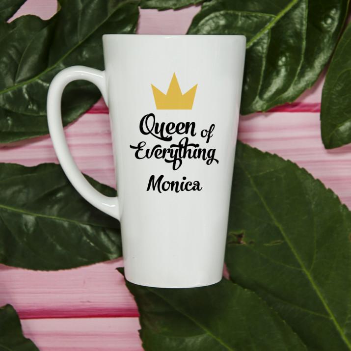 Queen of everything - Personalisierte Tasse