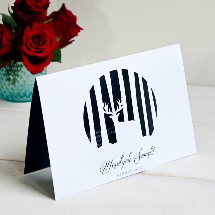 Renifer - kartka z życzeniami