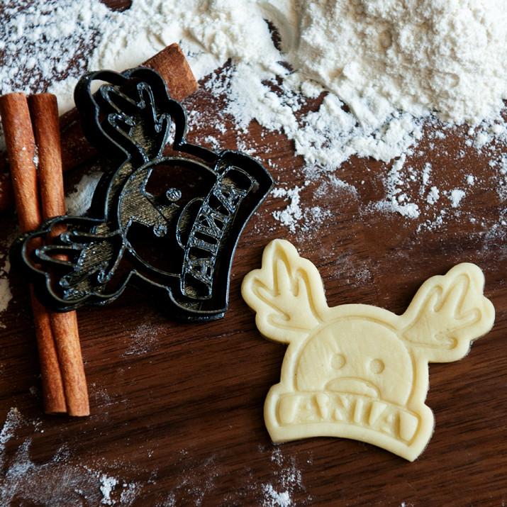 Renifer - personalizowana foremka 3D do ciastek