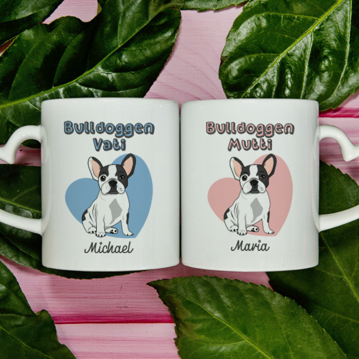 Bulldoggen-Eltern - Becher für Paar