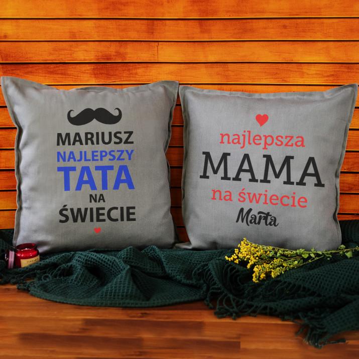 Rodzice - Zestaw Dwóch Poduszek Dekoracyjnych