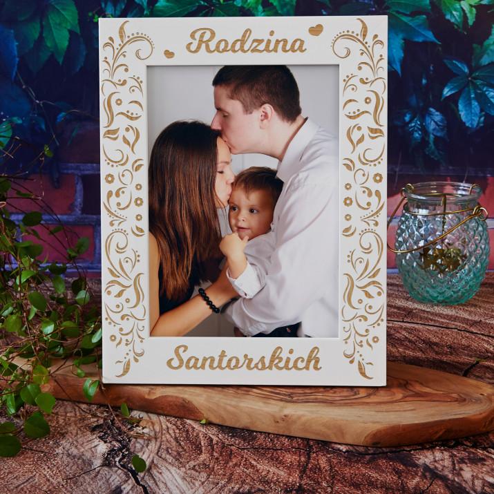 Rodzina serca - Ramka na zdjęcia z grawerem