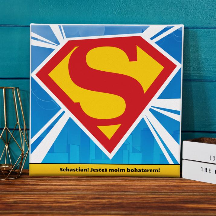 S jak SuperMan - obraz na płótnie