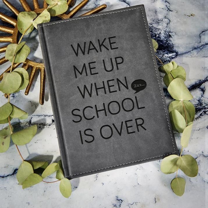 School - notatnik grawerowany A5