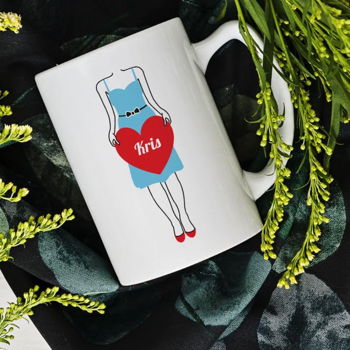 Herz für Ihn - Personalisierte Tasse