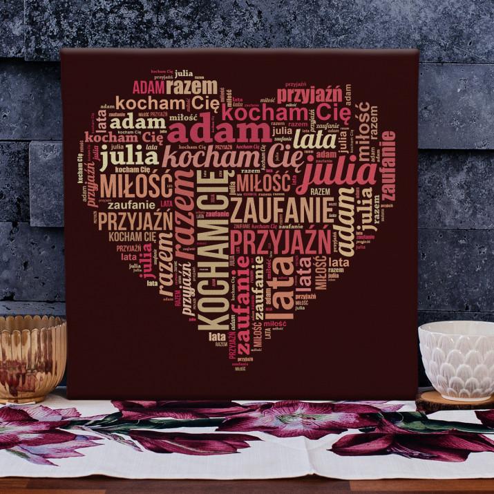 Serce - obraz z Twoich słów