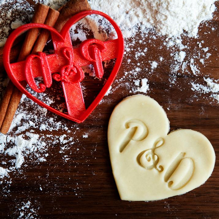 Serce - personalizowana foremka 3D do ciastek