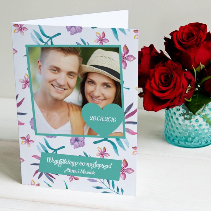 Serce ze zdjęciem - kartka z życzeniami